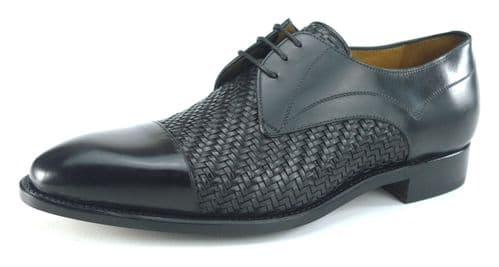 Carlos Santos 9102 Black Shoes